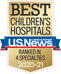 Best Children's Hospitals 2020-21 by U.S. News & World Report